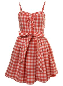 Red gingham dress!  Love!