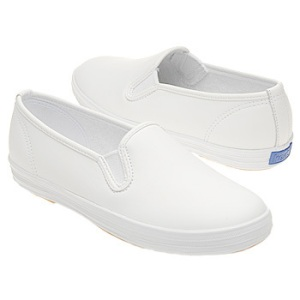 keds white slip on tennis shoes