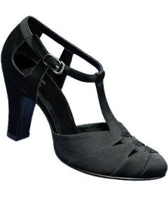 Aris Allen satin t-strap shoes, size 8.5