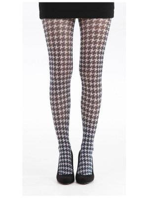 Dogstooth tights