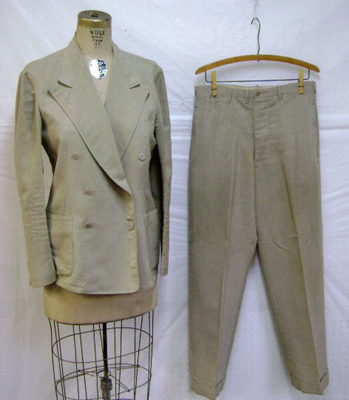 Palm Beach suit, size 40, bidding at $9.00