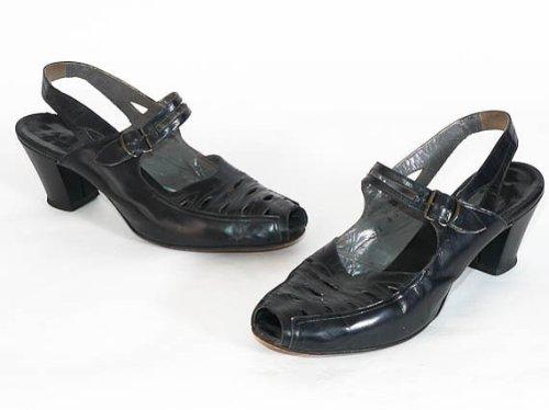 Black 1940's shoes