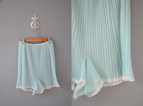 Powder blue 1950's pleated tap pants