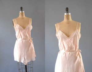 1930's teddy = full slip with built-in bloomers
