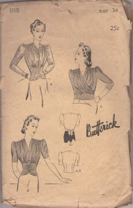"Jean Veloz's fitted V-neck shirt with ruching on the front is the most difficult - I still can't find a good reproduction, or even a pattern I feel comfortable identifying as ""close.""  In terms of closeness, this pattern is about as close as I could get.  Find a seamstress friend or Etsy seller for hire and get to work."