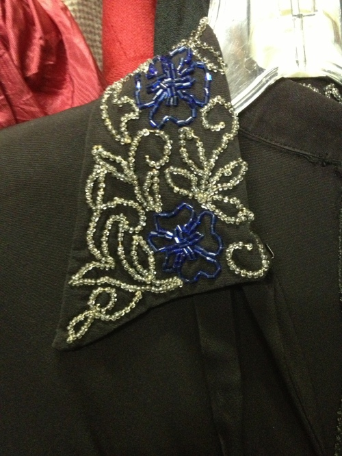 Collar detail at Chelsea Costumes