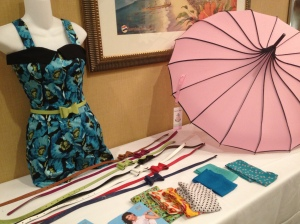 Romper, umbrella, and THE belts at Bettie Page Clothing