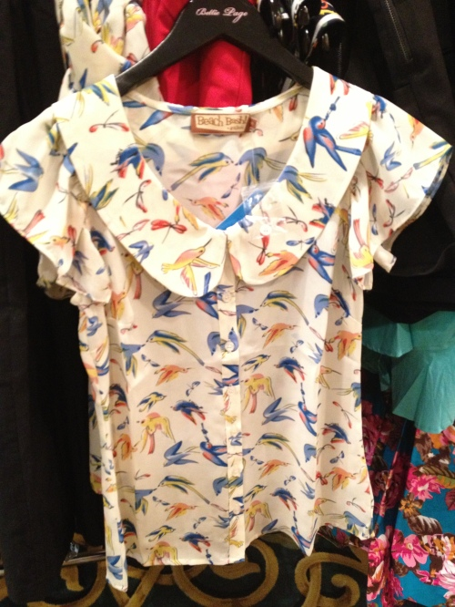 This Bettie Page blouse went home with many a gal