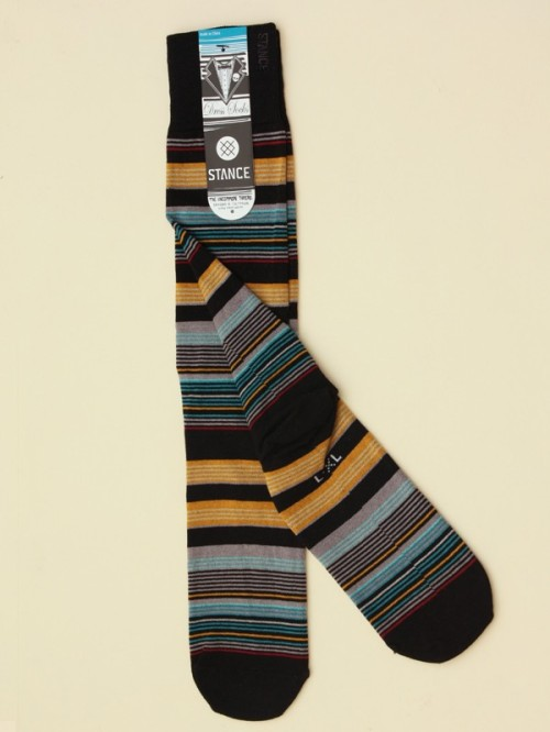 "Each pair of socks is named after an illustrious swing dance instructor - shown here, the ""Nick socken"""