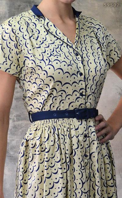 Margaret dress in scallop print