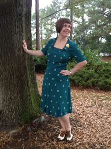 I may be the worst model ever - is the photo over yet?  But check out this dress!