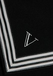 Embroidery on a sailor collar