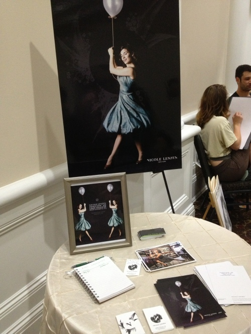 Nicole Lenzen's display served as a teaser for the fashion show earlier in the week.