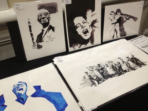 A selection of Ryan Calloway's jazz prints