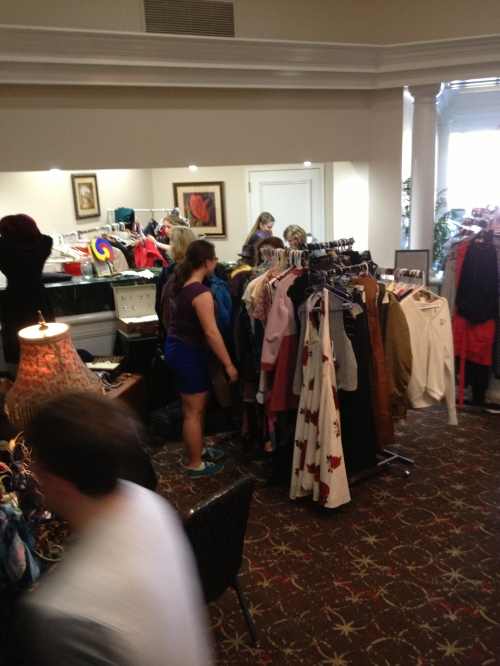 The consignment shop comprised most of the vendor area square footage.