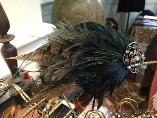 All the feathers!  This lovely piece is by Forties Forward.