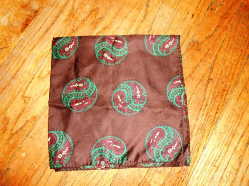 Vintage yin-yang pocket square