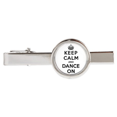 keep_calm_and_dance_on_tie_clip