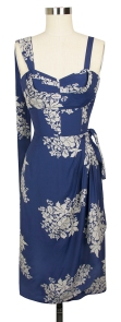Lena Sarong Dress in Blue Hawaii print