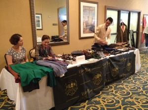 Chloe and her team at the samples table.