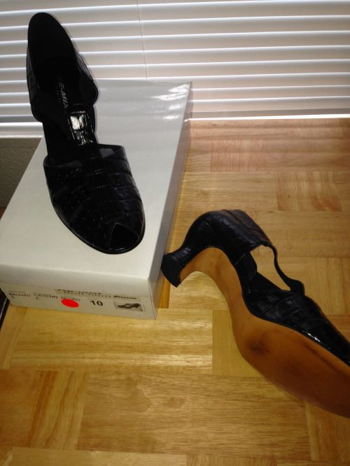 Bauhaus black, size 10, pricing same as above