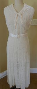 1930's repro in cream burnout velvet NEVER WORN