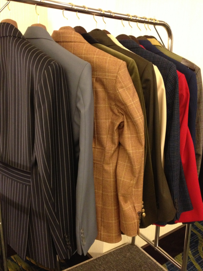 An array of sample jackets at FROMChloeHong