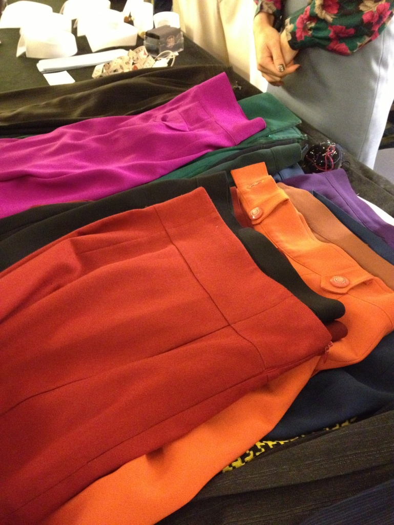 The fabulous Chloe skirts - look at those colors!