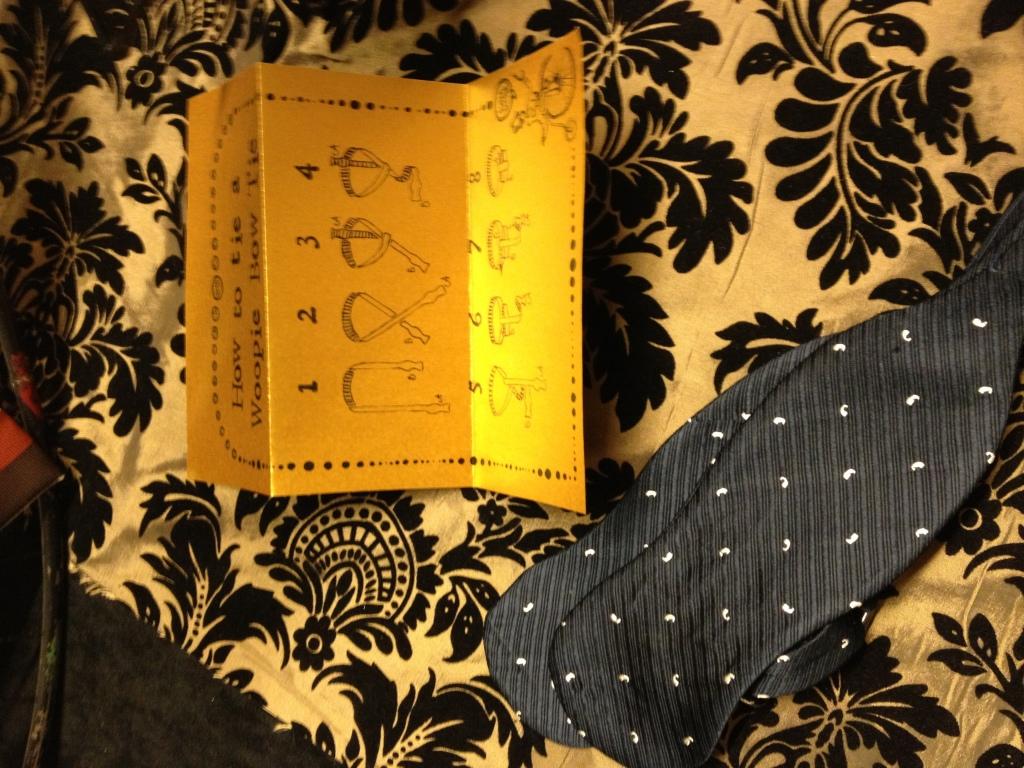 Adorable tie instructions