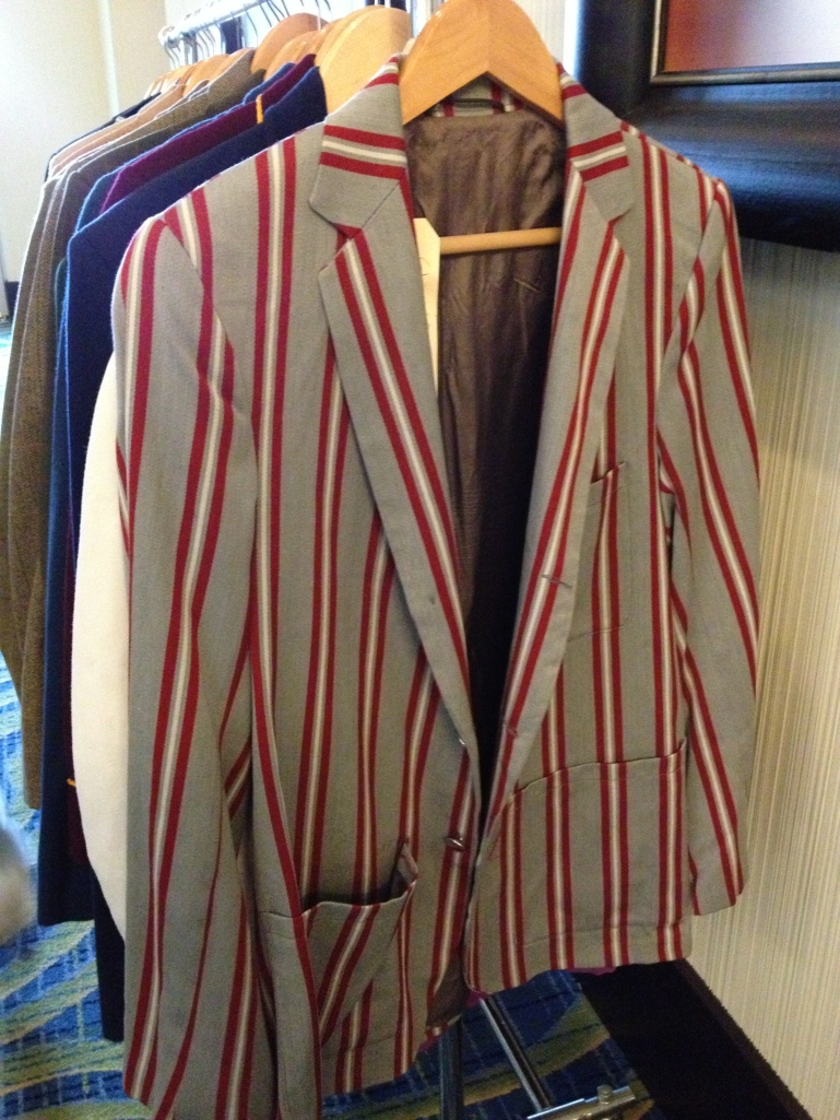 This striped jacket would be a great attention-grabber in a competition - at Brown & Williams