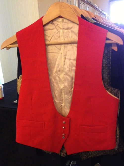 Red vest, for a more formal look - at Brown & Williams