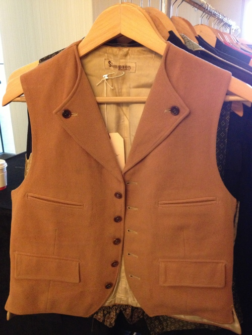 Lots of interesting details on this vest, especially the button lapels - at Brown & Williams
