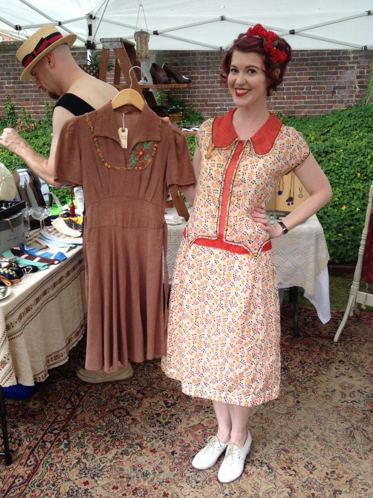 The lovely Jaye Ferrone shows off an adorable dress from Raleigh Vintage