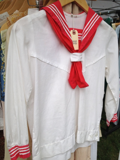 An adorable 1920's sailor top from Raleigh Vintage