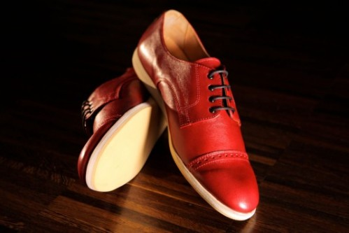 Rugcutter burgundy cap toe oxford