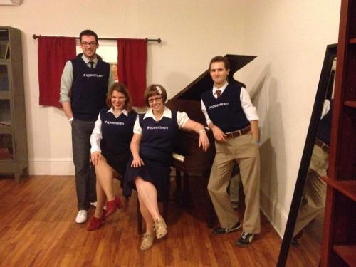 Tiffany Linquist, Skyler Hinkel, Andrew Wilson, and Laura Windley (with Anna Bryant and Jason Sager present in spirit)