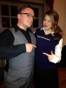 #speenteam in effect, with Adam Speen and Tiffany Linquist
