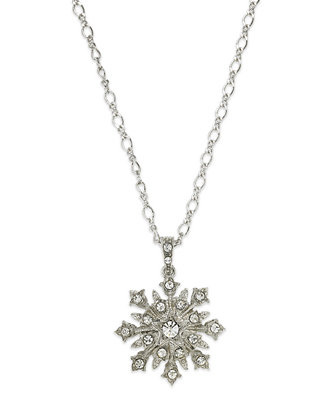 "This ""starburst"" necklace (which looks like a lovely snowflake to me) is part of a lovely collection-within-a-collection - I love a jewelry set!"