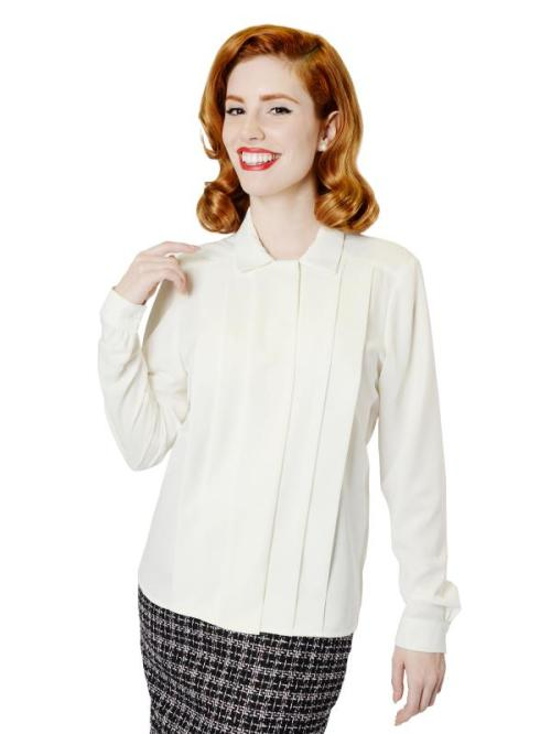 Where was this ivory blouse when I needed it years ago?