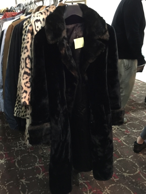 Fuzzy vintage coat at the Savoy Shop
