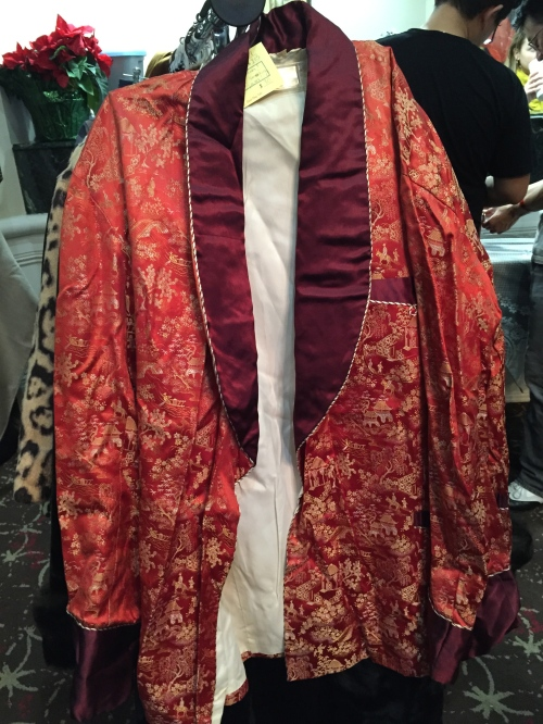 I want to know who picked up this smoking jacket!