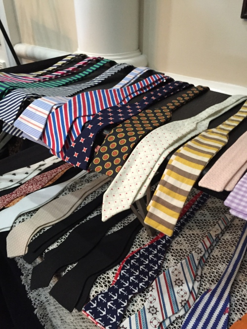 An array of hand made ties by Dapper Designs.