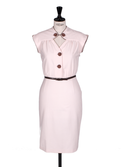 Another sassy keyhole dress, the Amy dress, inspired by a 1950's pattern, also available in soft yellow.