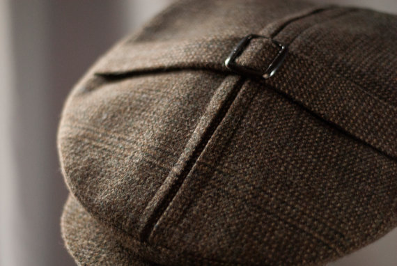 The Tradesman - 1910s- 20s Reproduction 2 piece crown Cap with center inverted box pleat and short belt