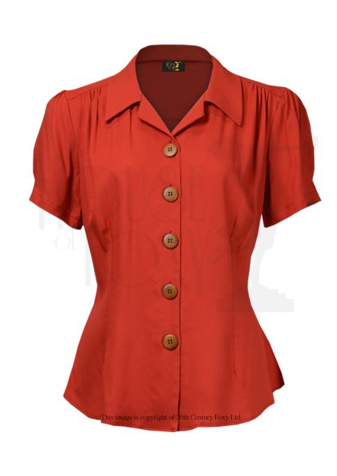 Rayon blouse in carnelian