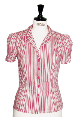 This candy stripe blouse looks good enough to eat - Willa blouse, also available in a blue/brown stripe.
