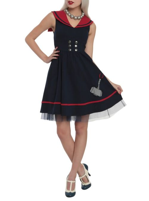 I was always a sucker for a sailor dress - rock the hammer.