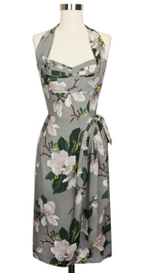 The gorgeous Lena Sarong Dress in Steel Magnolias print.