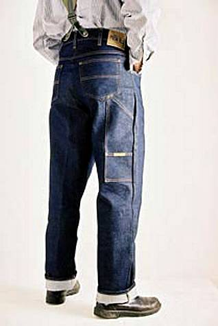 Work jean with braces/suspender buttons - photograph courtesy of acecafeshop.com, for my UK readers who may want to avoid international shipping.