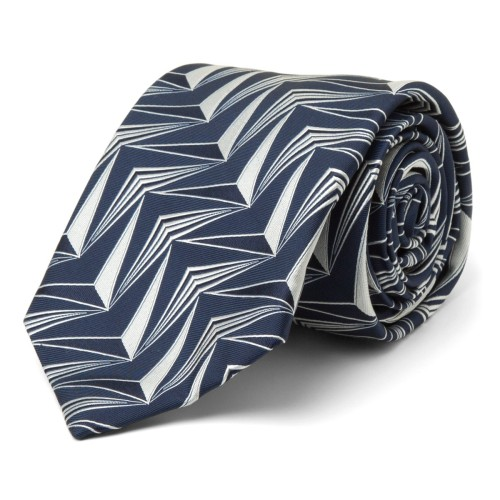 Deco Triangle Silk Tie